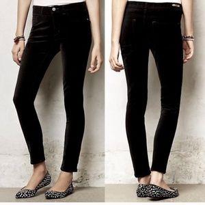 Anthropologie Pilcro Serif Velvet Skinny Pants
